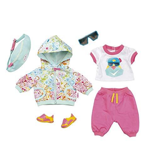 Zapf-827192 Baby born Play&Fun Deluxe-Traje de ciclismo, color rosa + blanco + menta (827192) , color/modelo surtido