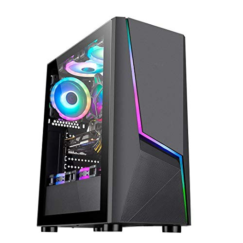 Electrobot i5 9th gen 6 core - Upto 4.10 Ghz, 8GB DDR4 2400Mhz, Nvidia GTX 1050ti 4GB, 120GB SSD, 1TB HDD, Gaming PC with 2 Rainbow Color Cooling Fans