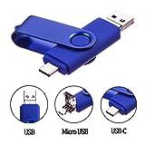 Cle USB 64 Go Type C Micro USB et USB 2.0 OTG 3 en 1 Pivotant Mémoire Stick...