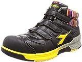 [ディアドラユーティリティ] 安全作業靴 JSAA認定 ハイカット プロスニーカー STELLERJAY ステラジェイ SJ25 ブラック/イエロー 26.5cm 3E