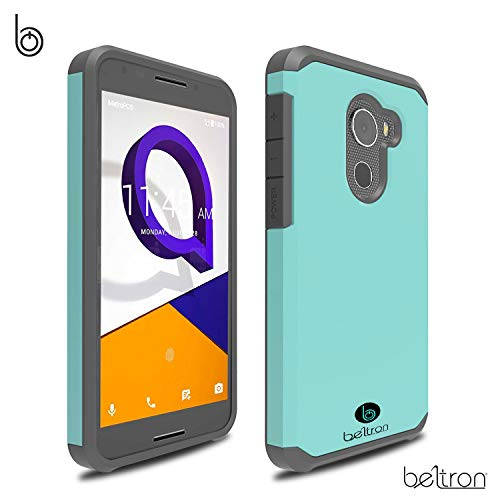 BELTRON Jitterbug Smart2 Case, Slim Protective Phone Cover, Dual Layer Protection Hybrid Rugged Case Case for Jitterbug Smart 2 Easy-to-Use 5.5 Smartphone for Seniors by GreatCall (Teal Mint)