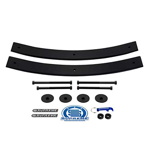 Supreme Suspensions - Rear Leveling Kit for Dodge Ram 1500 2' Rear Add A Leaf Suspension Lift Kit 4x2 4x4 (21.5' Short AAL)