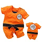 YFYBaby Baby Boy Romper Newborn Halloween Costume Toddler Cosplay Cartoon Jumpsuit Outfit Set Orange