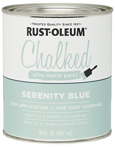 Rust-Oleum, Serenity Blue 285139 Ultra Matte Interior Chalked Paint 30 oz, 30oz Can