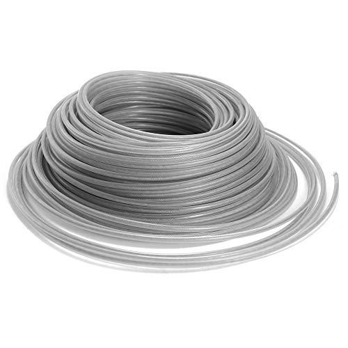 KKmoon Filo per decespugliatore, 3 mm, 1 LB, in acciaio inox, filo per tagliaerba, filo di nylon, decespugliatore, decespugliatore, decespugliatore, tagliabordi, tagliabordi