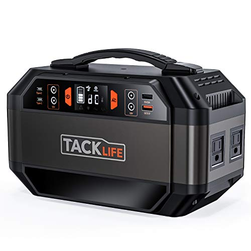 Power Station, 299wh Solar Ready Battery Generator, 110v/300w Power Sine Wave AC Outlets, Backup Battery for Outdoors Camping Travel Hunting, CPAP Battery Power Supply, QC3.0&TypeC, TACKLIFE P30