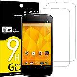 NEW'C Lot de 2, Verre Trempé Compatible avec LG Google Nexus 4, Film Protection...