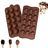 Silicone Chocolate Candy Molds Baking Molds for Cake, Brownie Topper, Gummy, Jello, Keto Fat Bombs 2 Pack