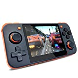 Handheld Game Console, RG350 Retro Game Console OpenDingux Tony System, Free with 32G TF Card Built-in 2500 Classic Game Console 3 Inch IPS Screen Portable Video Game Console (Black)