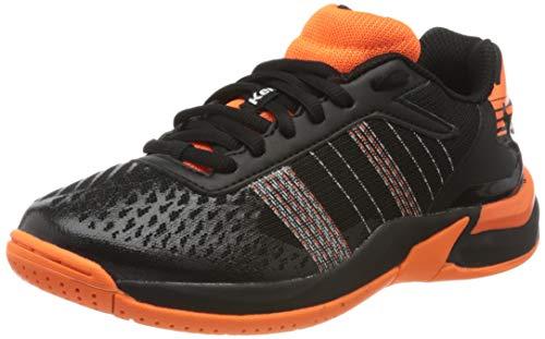 Kempa Unisex Kinder Attack Contender JUNIOR Sneaker, schwarz/Fluo orange, 38 EU