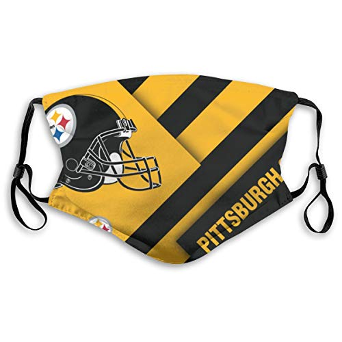 Kanteband Pittsburgh Steelers Adjustable and Replaceable 5 - Layer Activated Carbon Filter Respirator for Unisex Use