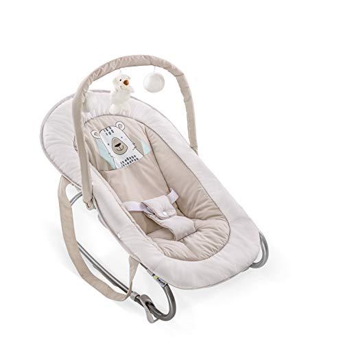 Hauck Bungee Deluxe 633632 Hamaca Bebés con Respaldo Ajustable, Antivuelco, Beige...
