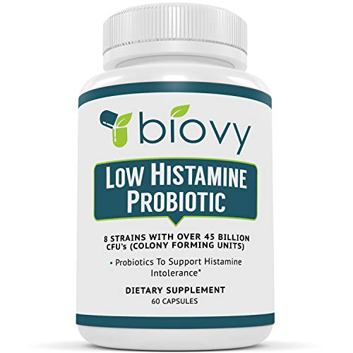 Low Histamine Probiotics by Biovy™ - Fight Histamine Intolerance and Support Balanced Gut Health - Histamine Free Probiotic for Those Seeking Health Improvements with Histamine Control - 60 Capsules 1