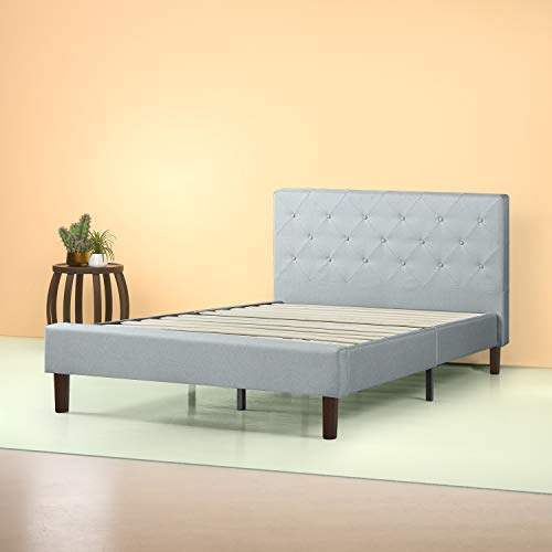 ZINUS Shalini Upholstered Platform Bed Frame / Mattress Foundation / Wood Slat Support / No Box Spring Needed / Easy Assembly, Sage Grey, Full