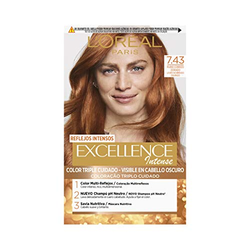 L'Oréal Paris Excellence Intense Coloración Tono: 7,43 Rub