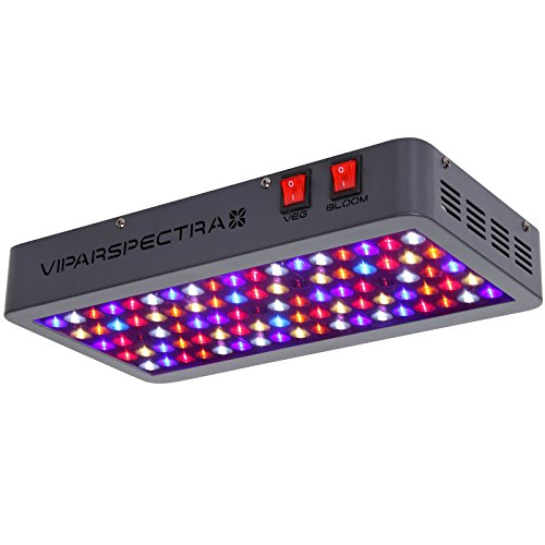 VIPARSPECTRA UL Certified 450W LED Grow Light, with Daisy Chain,Veg and Bloom Switches, Full Spectrum Plant Growing Lights for Indoor Plants Veg and Flower