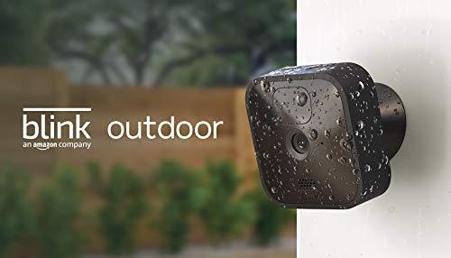 Blink Outdoor, Videocamera di sicurezza in HD, senza fili, resistente alle intemperie, batteria autonomia 2 anni, rilevazione movimento | 1 videocamera