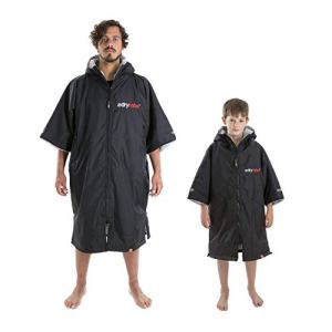 Dryrobe Advance Short Sleeve Change Robe – Stay Warm and Dry – Waterproof Oversized Swim Parka