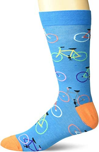K. Bell Socks mens Sports and Outdoors Novelty Crew Socks, Blue (Bright Bikes), Shoe Size: 6-12: Buy Online at Best Price in UAE - Amazon.ae