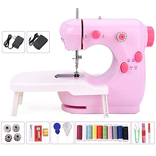 Suteck Mini Sewing Machine for Beginners Portable Electric...