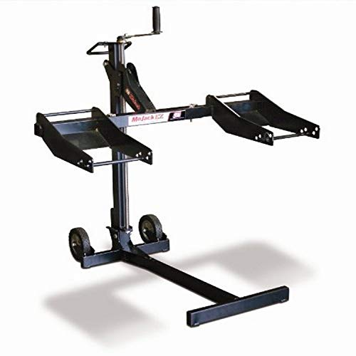MoJack EZ - Residential Riding Lawn Mower Lift, 300lb Lifting Capacity, Fits Most Residential & Zero Turn Riding Lawn Mowers, Folds Flat for Easy Storage, Industry Leading Two-Year Warranty