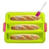 KeepingcooX Moule à baguette en silicone antiadhésif pour la cuisson de pain...