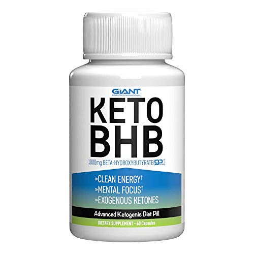 Giant Sports Keto Pills Clean Energy Weight Loss BHB Salt | Advanced Ketosis for Burning Fat and Ketones On The Ketogenic Diet | Natural Boost Perfect for Men Women, 60 Capsules 1