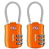 Diyife TSA Equipaje Locks, [2 Paquetes] 3 DíGitos Seguridad Candado, CombinacióN Candados, Bloqueo De CóDigo para Maletas Equipaje Viaje, Etc. (Naranja)