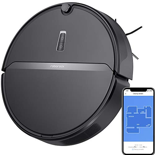 Roborock E4 Robot Vacuum Cleaner, Internal Route Plan with 2000Pa Strong Suction, 150min Runtime, Carpet Boost, APP Total Control, Ideal for Pets and Larger Home (Black)