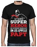 Papy Super Héros Qui ne Portent Pas de Cape T-Shirt Homme XX-Large Noir
