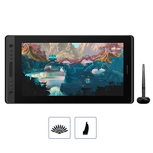 HUION KAMVAS Pro 16 Drawing Tablet with Screen Full-Laminated Graphics Monitor Pen Display with Battery-Free Stylus Tilt 6 Express Keys Touch Bar-15.6inch