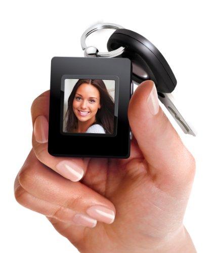 Sharper Image Ultra Slim Digital Photo Keychain, Black