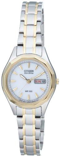 Citizen Damen Analog Quarz Uhr mit Edelstahl beschichted Armband EW3144-51AE