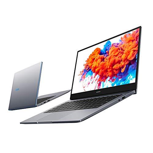 HONOR MagicBook 14 Laptop, 35,56cm (14 Zoll), Full HD IPS, 256 GB PCIe SSD, 8 GB RAM, AMD Ryzen 5 3500U, Fingerabdrucksensor, Windows 10 Home - Space Grey