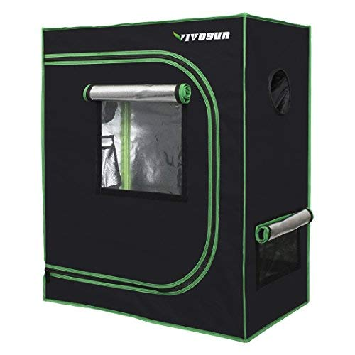 VIVOSUN 30'x18'x36' Mylar Hydroponic Grow Tent with Observation Window and Floor Tray for Indoor Plant Growing