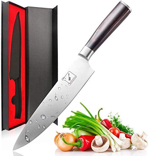 imarku Chef Knife - Pro Kitchen Knife 8 Inch Chef's Knives High Carbon German Stainless Steel Sharp Paring Knife with Ergonomic Handle