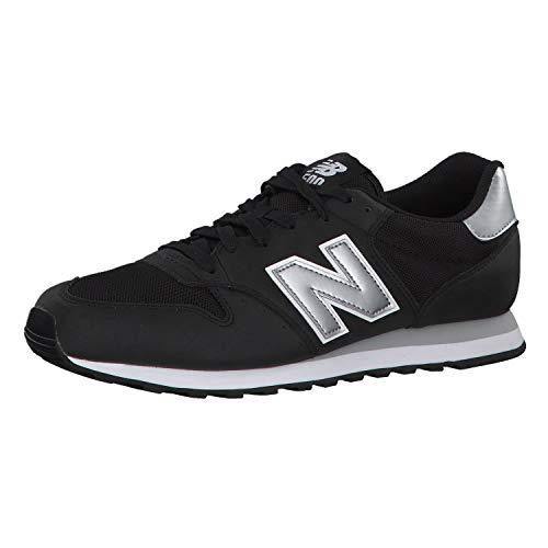 New Balance GM500NAY, Zapatillas Hombre, Black/Silver, 43 EU