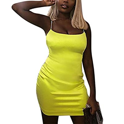 COMFORTABLE & BREATHABLE: Our dress is made of 95% polyester and 5% spandex. Soft and skin-friendly fabric ensures comfort and no-itch. This dress will not wrinkle or go out of shape. SEXY & GLAMOROUS: This neon-colored dress is designed with bright ...
