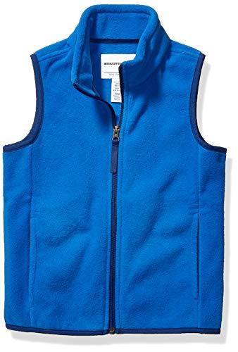 Amazon Essentials Kids Boys Polar Fleece Vests, Blue, Large