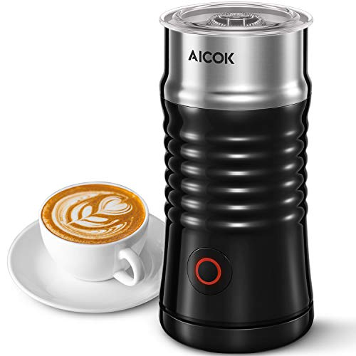 Milk Frother, Aicok Electric Milk Steamer with Hot or Cold...