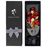 24k Gold Roses, Gold Plated Rose 24k Gold Dipped Rose with Luxury Gift...