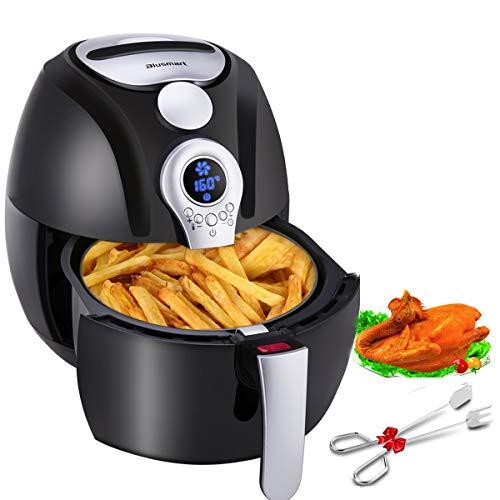 Blusmart Heißluftfritteuse 3,2 Liter XL Air Fryer mit Digitale Display | fritteuse ohne fett | 1400 Watt gesundes Kochen Heissluft Fritteusen (mit Frei Edelstahl-Küchenzange Rezeptheft)
