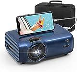 FUJSU Projecteur, Full HD 1080P Mini Projecteur 5500 Lumens Vidéoprojecteur Portable, Home Cinéma Projecteur Compatible with HDMI/USB/SD/AV/VGA