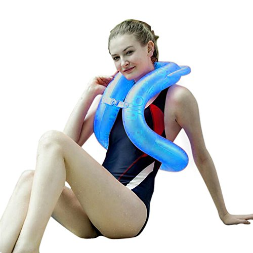 Topsung Inflatable Pool Floats for Adults Swimming Pool Floats Swim Ring Blue