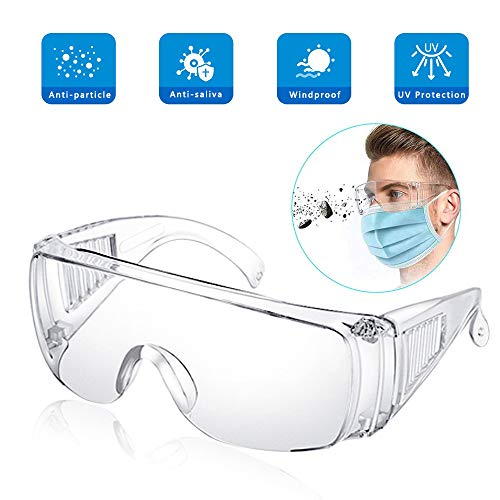 EPODA Schutzbrille | Überbrille auch für Brillenträger | Für Baustelle, Labor, Werkstatt und Fahrrad-Fahren | Leicht, klar und mit indirekter Belüftung | 1 St.