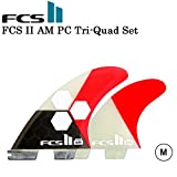 【FCS2 フィン】 AM PC 5FIN TRI-QUAD 【M】ALMERRICK アルメリック PERFORMANCE CORE FIN SET RED