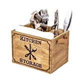 KingSaid Boîte à Couverts,Boîte à Couverts en Bois,Boîte...