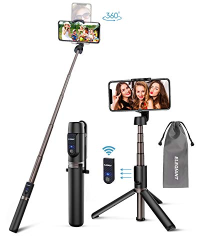 ELEGIANT Perche Selfie, Selfie Stick Bluetooth en Alliage d'Aluminium 3 en...