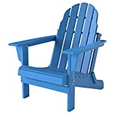 PILITO Adirondack Chair, Outdoor Folding Chairs, Patio Lounge Chair, Weather Resistant, HDPE Material, Perfect for Deck, Garden, Backyard & Lawn Furniture, Fire Pit, Porch Seating, Navy