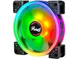 Rosewill 120mm True RGB LED Case Fan (1-Pack), Supreme Dual Ring Addressable RGB, Ultra Quiet Cooling with Long Life Rifle Bearing - RGBF-S12004 120mm RGB case Fan with True RGB Color
